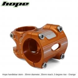 Hope A/M Stem 0 degree 35mm 35mm diameter - Orange