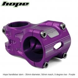 Hope A/M Stem 0 degree 50mm 35mm diameter - Purple