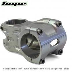 Hope A/M Stem 0 degree 50mm 35mm diameter - Silver