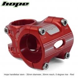 Hope A/M Stem 0 degree 35mm 35mm diameter - Red