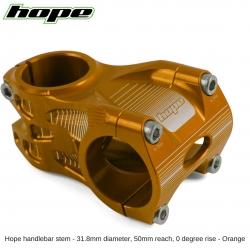 Hope A/M Stem 0 degree 50mm 31.8mm diameter - Orange