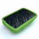 Lime green silicon case for Garmin Edge 520 - on device - device not included