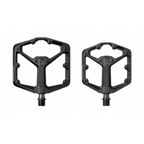 crankbrothers stamp 3 flat MTB pedal - black - large and small