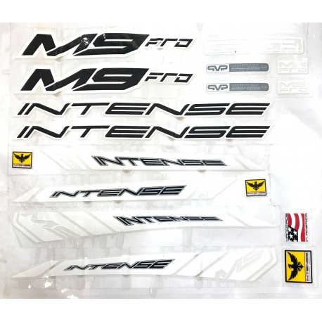 INTENSE M9 FRO CUSTOM MADE FRAME DECAL SET YELLOW VERSION