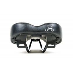 Brompton BLACK edition standard rail saddle, excluding Pentaclip - rear view