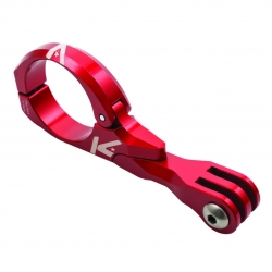 K-Edge Go-Big Pro handlebar camera or light mount - Red - 31.8mm