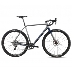 Orbea TERRA M31-D all road / gravel bike - grey and blue - side view