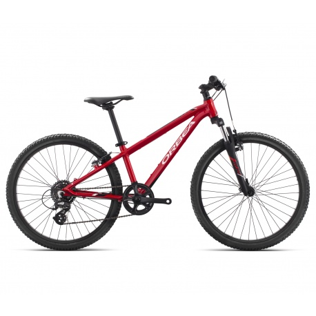 Orbea MX24 XC Kids cross country mountain bike - red and white