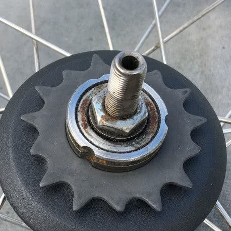 Brompton SACHS 6 speed sprocket set - 15T sprocket installed