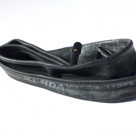 Brompton 16 inch inner tube showing Kenda and Made in Taiwan