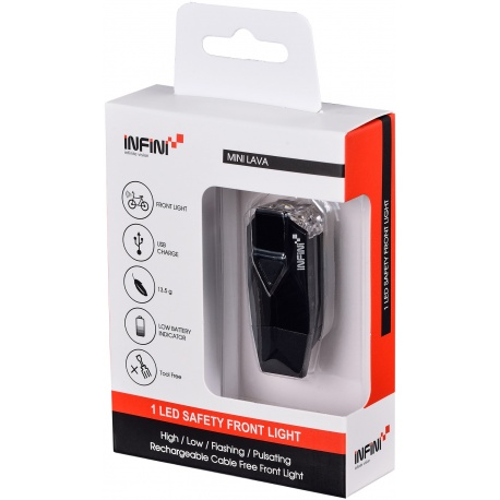 Infini lava front usb rechargeable light in packaging
