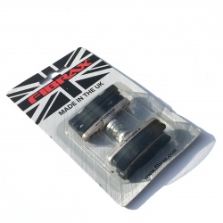 Pair of Fibrax road brake pads AND holders - in packaging