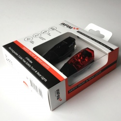 Infini Mini Lava front and rear USB rechargeable light set in packaging