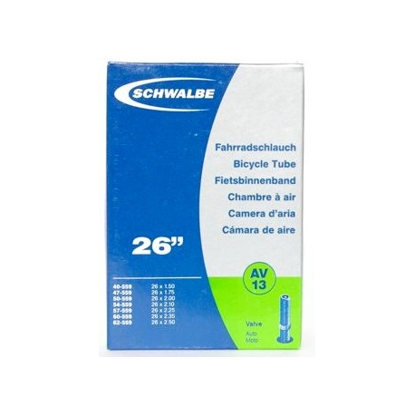 "Schwalbe 26 x 1.5 - 2.5 "" inner tube for mountain bike shraeder / car type valve"