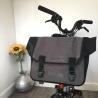 Brompton O Bag - Grey - on bike with sunflower