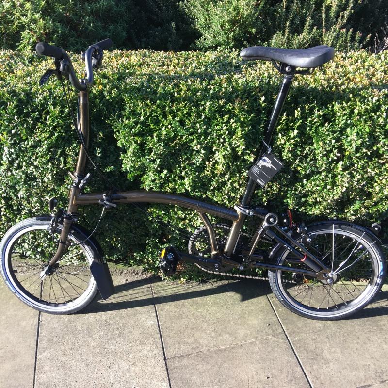 Brompton Bike Black Lacquer 2018