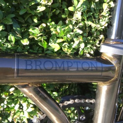 Brompton 2018 BLACK EDITION M6L - Black Lacquer - showing logo