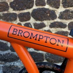Brompton Orange BLACK edition - decal