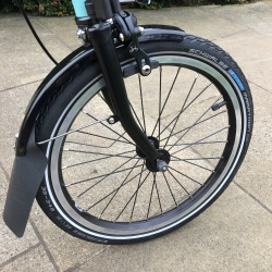 Schwalbe Marathon 16 inch for Brompton - on front wheel