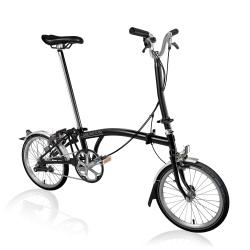 Brompton 2018 H3L all black folding bicycle