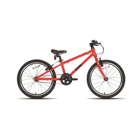Frog 52 single speed childs bike - red - side view