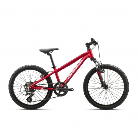 Orbea MX20 XC Kids mountain bike 2018 red and white - side view