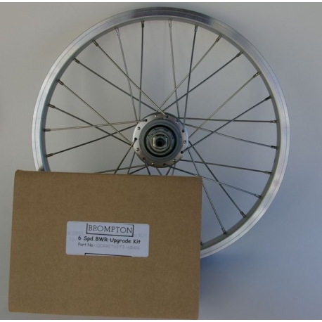 Brompton gear upgrade kit - 3 speed hub to 6 speed hub/derailleur