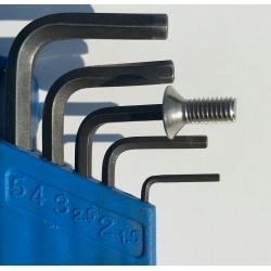 Orbea Oiz derailleur mount bolts on a 2.5 mm Allen key
