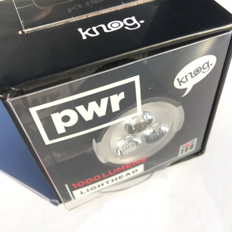 Knog pwr 1000 lumens lighthead - in package - front