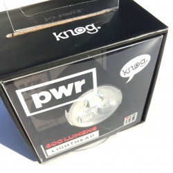 Knog pwr 600 lumens lighthead - in package - front
