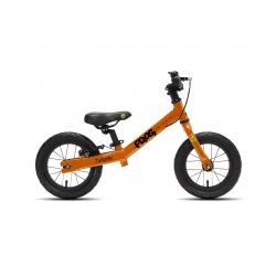 Frog Tadpole balance bike - Orange - side view