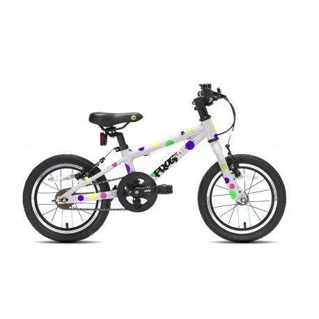 Frog 43 childs bike - spotty - side view