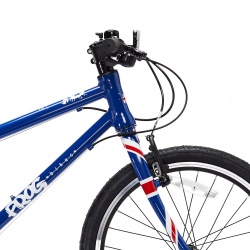 Frog 55 kids bike - Union Jack colours - side view of front