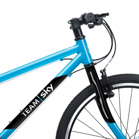 Frog 62 kids bike - Team Sky colours - front side view