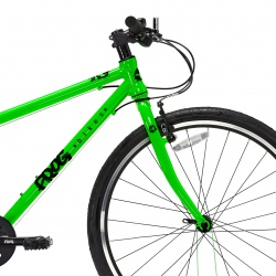 Frog 69 childs bike - green - front side view