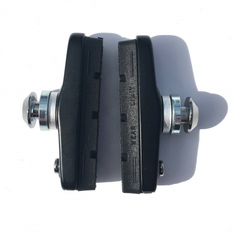 Brompton late 2018 brake pads and holders showing wear indicator
