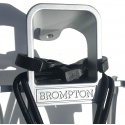 Brompton rear carrier / rack set complete with mudguard - silver