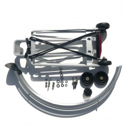Brompton rear carrier / rack set complete with mudguard - showing all parts included