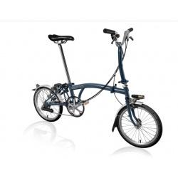Brompton M6L folding bike - Tempest Blue - 2019 model