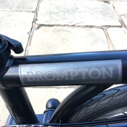 Brompton decal BLACK edition for black frames - on bike