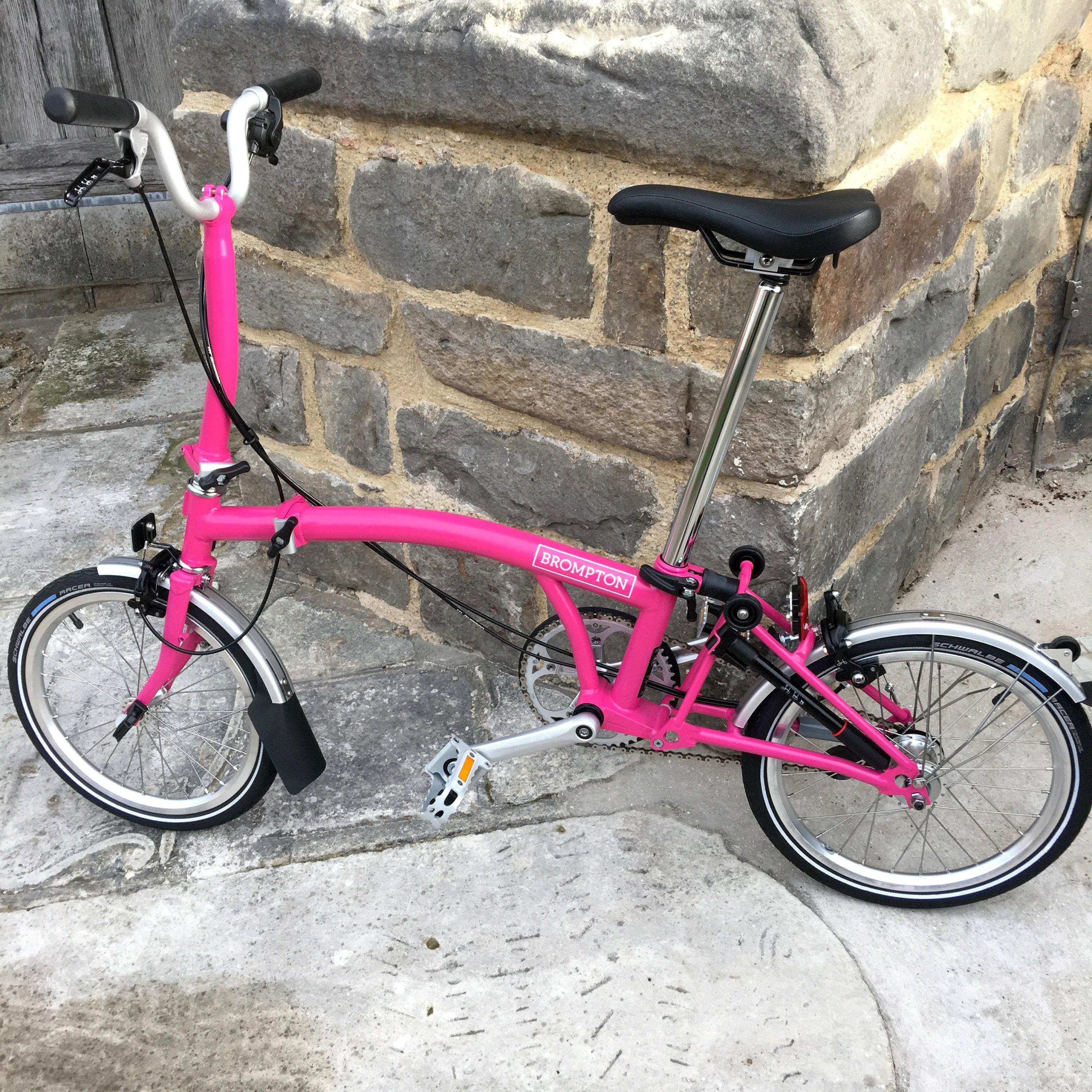 87431bcd3 Brompton Hot Pink M3L folding bike - 2019 model