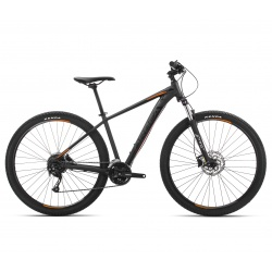 Orbea MX 40 mountain bike 2019 - black / orange - side view