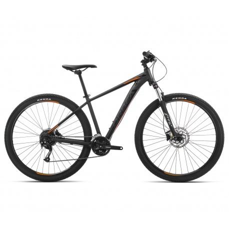 Orbea MX 40 mountain bike 2019 - black / orange - side view
