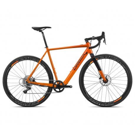 Orbea Gain D31 electric road bike - orange and black (gloss finish)