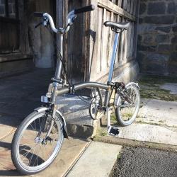 Brompton 2018 M3L Raw Lacquer folding bike