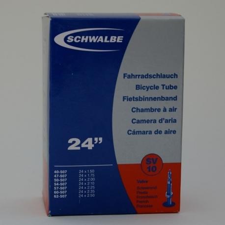 Inner tube 24 x 1.5 - 2.5 inch from Schwalbe - presta valve