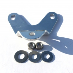 Brackets for Brompton rear battery light or reflector - no rack version