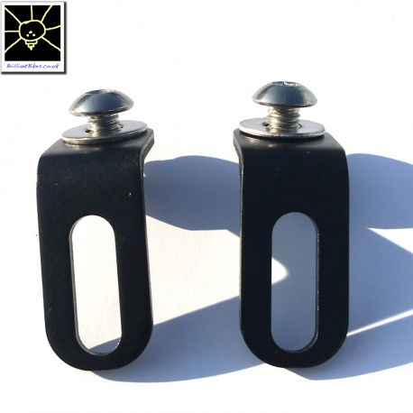 Brompton rear light / reflector brackets - rack version - black