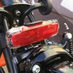 2C permanent - rear light by busch + muller - on Brompton folding bike