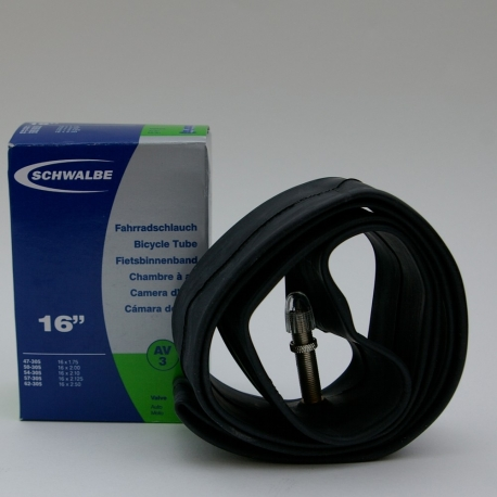 Inner tube 16 x 1.75 - 2.125 inch from Schwalbe - schraeder / car type valve